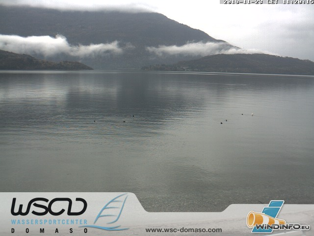 Webcam Comer See - Lago di Como in Domaso am Wassersport Center - WSC Domaso
