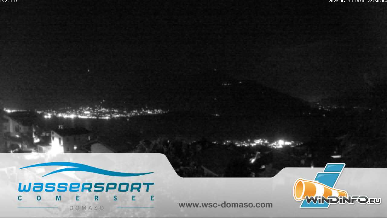 Webcam Domaso - Süd - Blick Richtung Laghetto di Piona