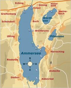 Ammersee Karte Windsurfen - Kitesurfenspots